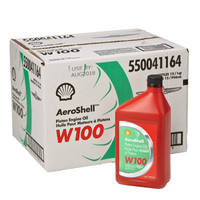 Aeroshell W100 Piston Engine Oil 550040897 (Carton of 12)