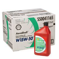 Aeroshell W15W50 Multigrade Piston Engine Oil (Carton of 12)