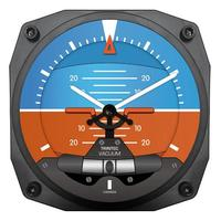 "Trintec 6"" Modern Artificial Horizon Instrument Style Clock"