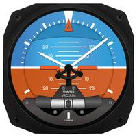"Trintec 10"" Artificial Horizon Instrument Style Clock"