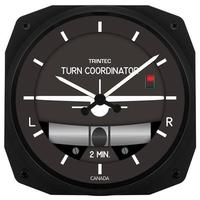 "Trintec 10"" Turn & Bank Instrument Style Clock"