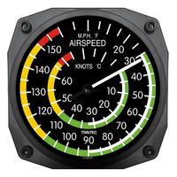 "Trintec 6"" Airspeed Instrument Style Thermometer"