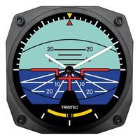 "Trintec 6"" Artificial Horizon Instrument Style Clock"