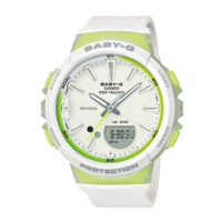 Casio Baby-G Step Series White/Green BGS100-7A2