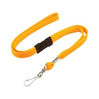 Orange Lanyard with Breakaway and Swivel Clip