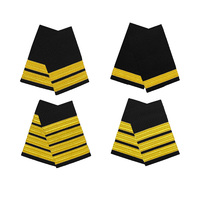 Gold on Black Epaulettes