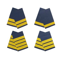 Gold on Navy Epaulettes
