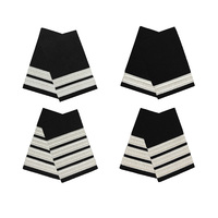 Silver on Black Epaulettes