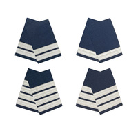 Silver on Navy Epaulettes