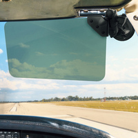 "RAM Dark Green Sun Visor with 1"" Ball and Suction Cup Mount: 50% Tint"