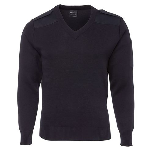 JB's Wear Navy Epaulette Jumper - Small