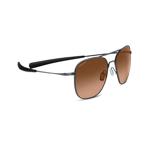 7977 - Serengeti Aerial - Shiny Gunmetal - Non Polarized Drivers Gradient
