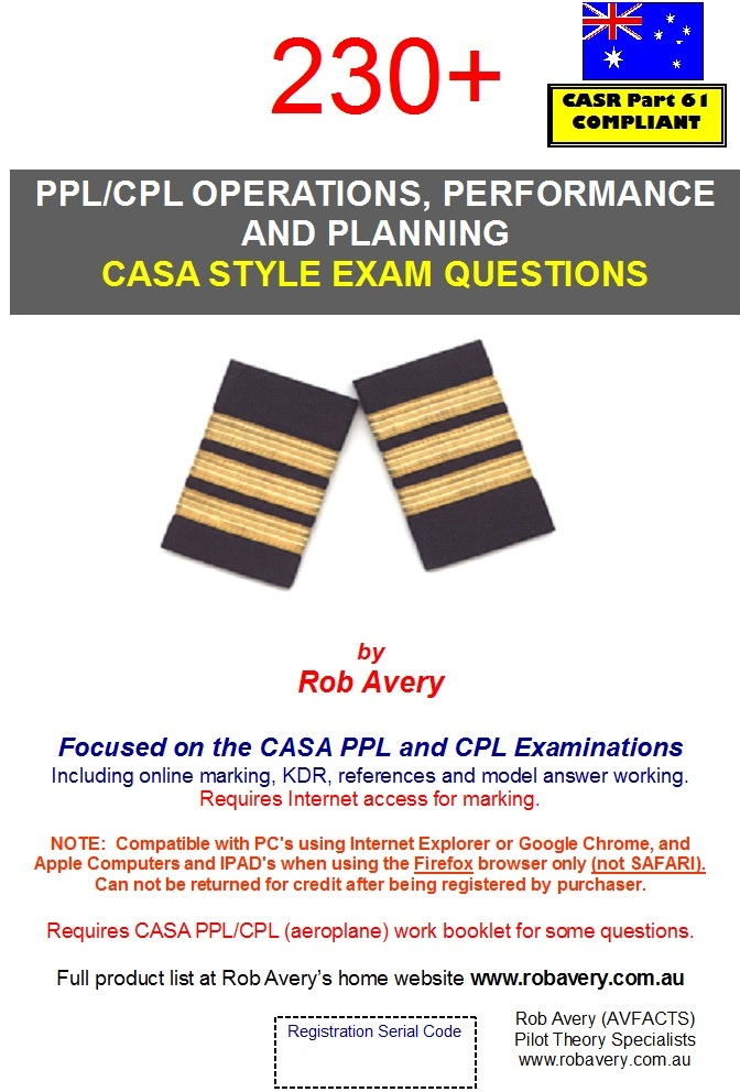 PPL/CPL Performance 230 Questions - Rob Avery