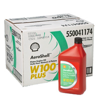 Aeroshell W100 Plus Piston Engine Oil 550040900 (Carton of 12)