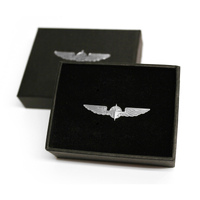 Design4Pilots Pilot Wings Medium 3.5cm / Silver