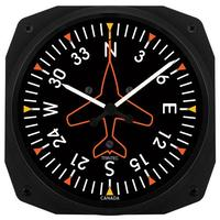 "Trintec 10"" Directional Gyro Instrument Style Clock"