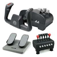 CH Products Captain's Pack for PC & Mac (Inc USB Yoke, Quad Throttle & Pedals)