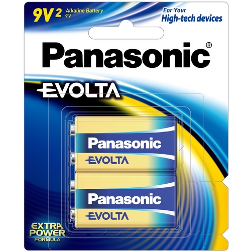 Panasonic Evolta Batteries 9v 2pk